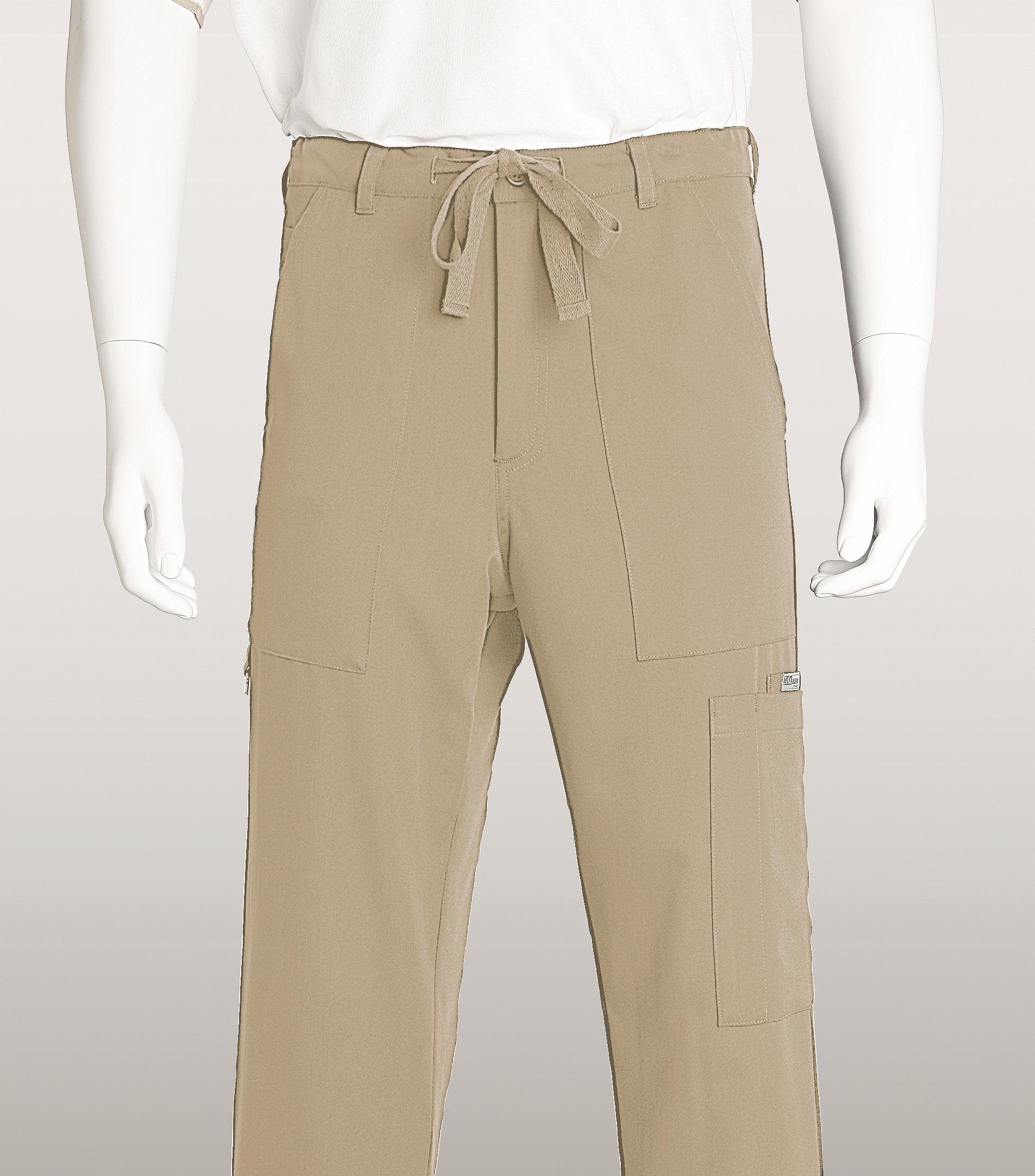 Grey\'s Anatomy Men\'s Zip Fly Drawstring Utility Scrub Pants-0203 ...